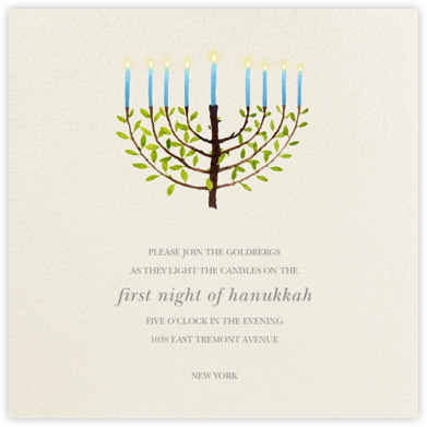 Olive Tree Menorah | square