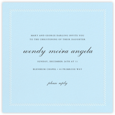Uneven Dots - Glacier - Paperless Post - Baptism invitations