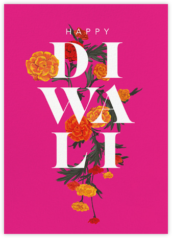 Diwali in Bloom (Greeting) - Paperless Post - Diwali Cards