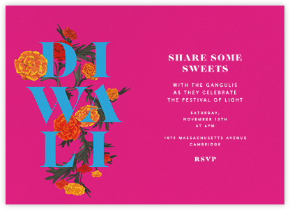 Diwali invitations online at paperless post diwali in bloom invitation stopboris Choice Image
