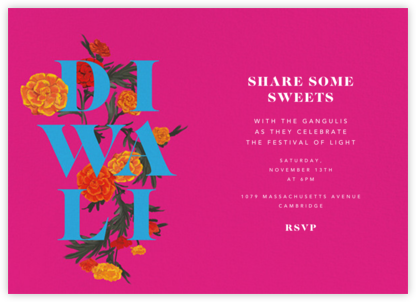 Diwali in Bloom (Invitation) | horizontal