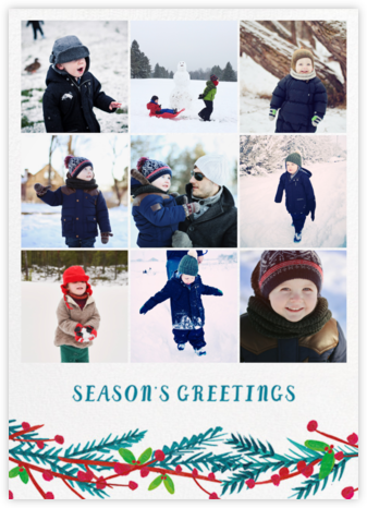 Garland on the Grid - Mr. Boddington's Studio - Holiday photo cards
