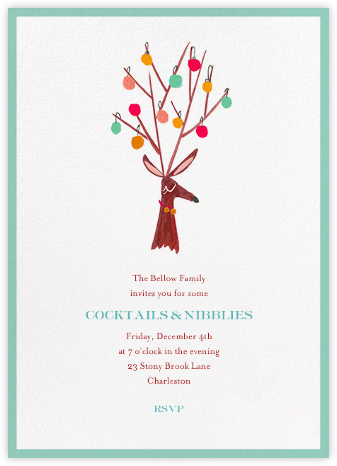 There's a Reindeer at the Door (Invitation) - Mr. Boddington's Studio - Online Party Invitations