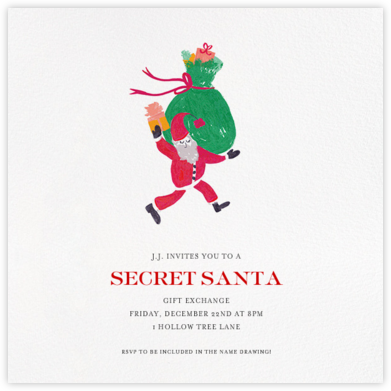 Santa Says Hello (Square) - Fair - Mr. Boddington's Studio -