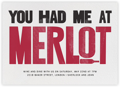 Show Me the Merlot - Paperless Post - Happy Hour Invitations