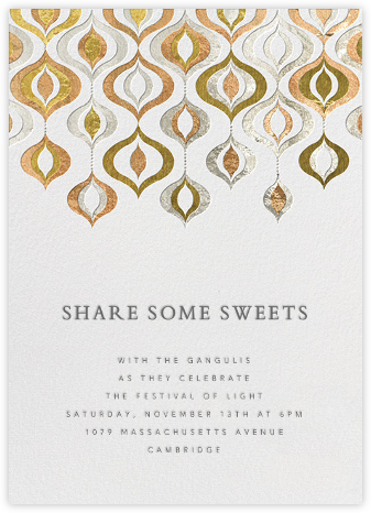 Shiny and Sparkly - Jonathan Adler - Diwali invitations