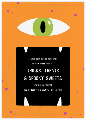Hungry Eye - Paperless Post - Halloween invitations