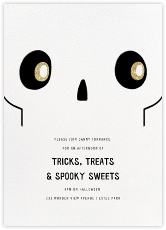 No Bones About It - Paperless Post - Halloween invitations