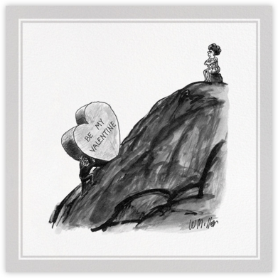 Sisyphus's Valentine - The New Yorker - Valentine's day cards