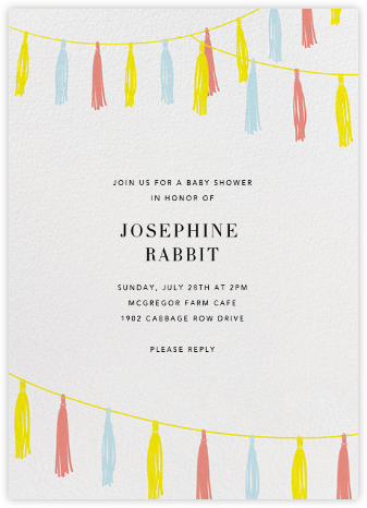 Tasseled II - Multi - Paperless Post - Baby Shower Invitations