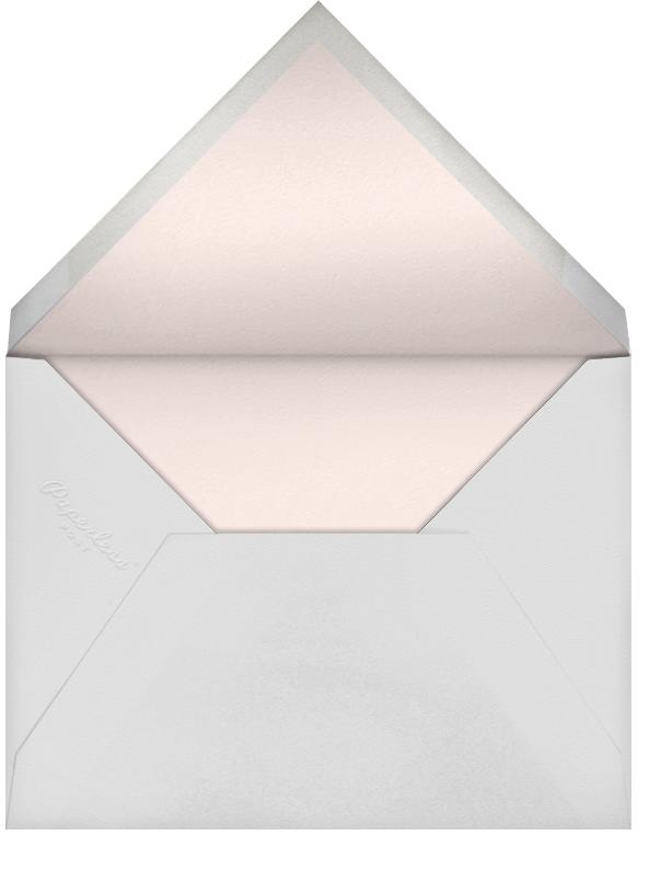 Buffalo Check - Petal - Oscar de la Renta - Baby shower - envelope back