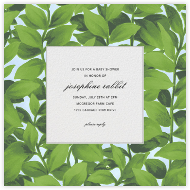 Hedge - Oscar de la Renta - Baby Shower Invitations