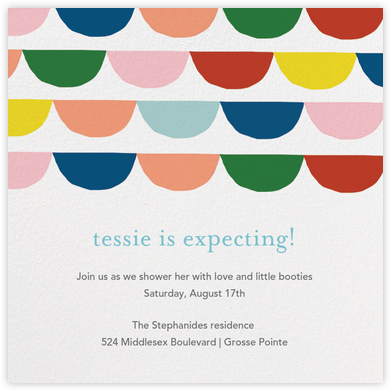 Festive Bunting - Ashley G - Celebration invitations