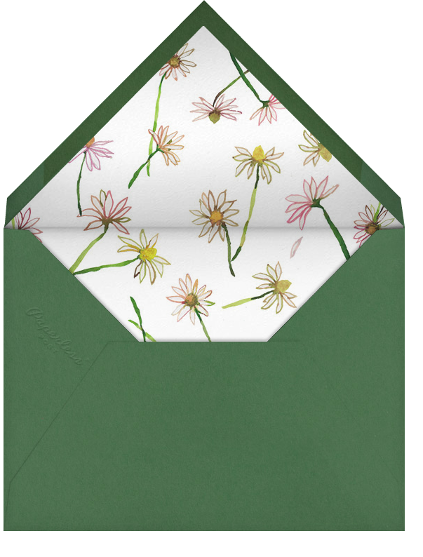 Daisy Chain - Happy Menocal - Baby shower - envelope back