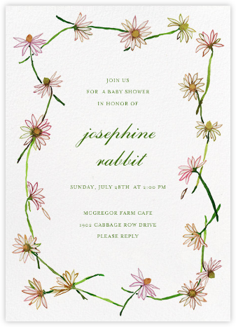 Daisy Chain - Happy Menocal - Baby Shower Invitations