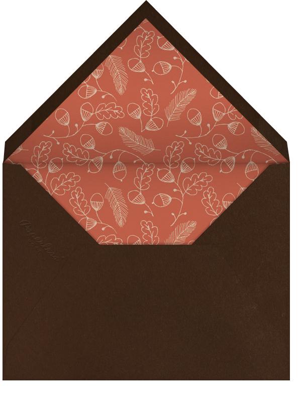 Thankful Times - Crate & Barrel - Thanksgiving - envelope back
