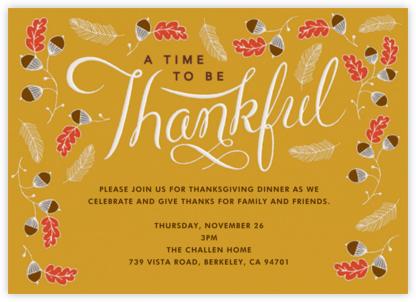 Thankful Times - Crate & Barrel