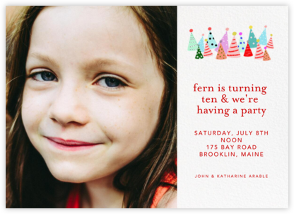 Party Hats (Photo) - Ashley G - Online Kids' Birthday Invitations