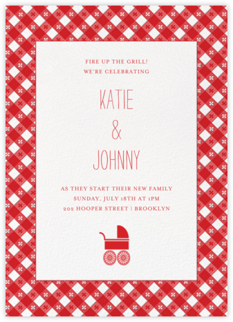 Picnic Table - Paperless Post - Baby shower invitations