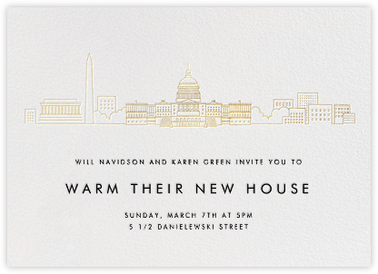 D.C. Skyline View - White/Gold - Paperless Post -