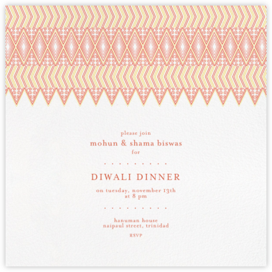Mehndi - Yellow and Orange - Paperless Post - Diwali invitations