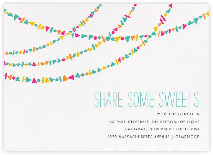 Streamer Shapes - Bright - Paperless Post - Diwali invitations