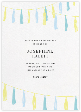 Tasseled II - Blue - Paperless Post - Baby Shower Invitations