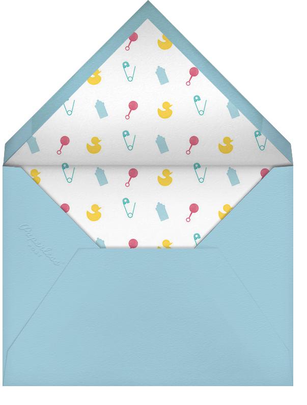 Onesie Photo - Light Blue - Paperless Post - Birth - envelope back