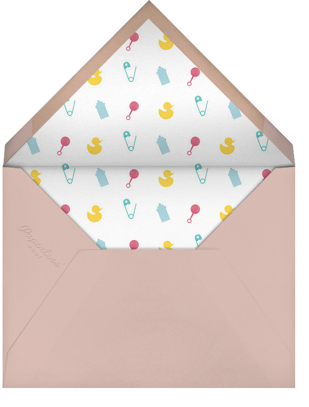 Onesie Photo (Photo) - Pink - Paperless Post - Birth - envelope back