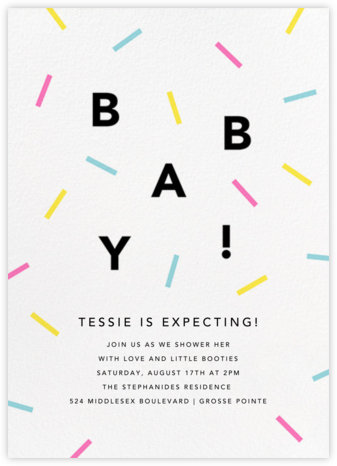 Confection - Multi - Paperless Post - Baby Shower Invitations