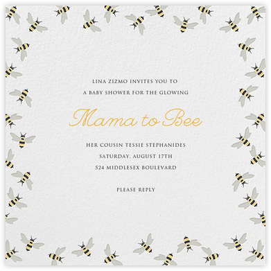 Bumble Bees - Paperless Post - Baby Shower Invitations