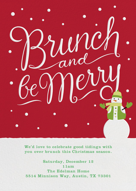 Brunch and Be Merry - Crate & Barrel - Invitations