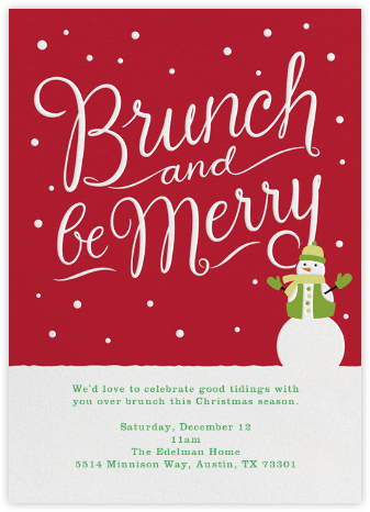 Brunch and Be Merry - Crate & Barrel - Brunch invitations