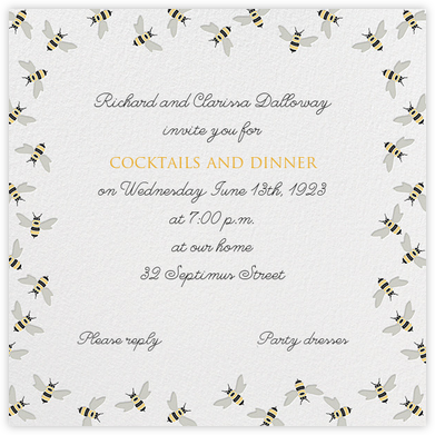 Bumble Bees - Paperless Post - Online Party Invitations