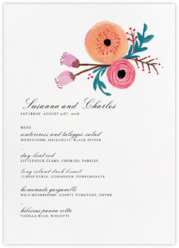 Pocket Full of Cool Flowers (Menu)