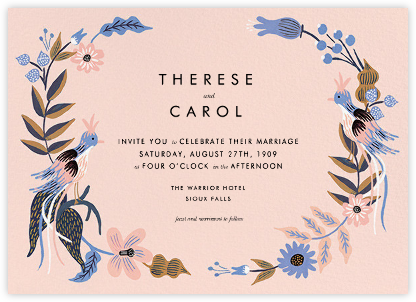 Fall Folk (Invitation) - Meringue - Rifle Paper Co. - Wedding Invitations