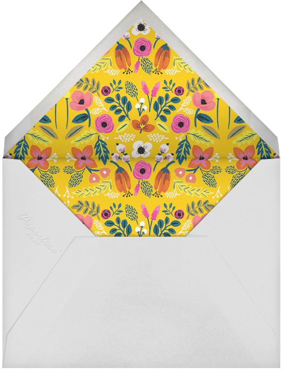 Folk Floral - Orange - Rifle Paper Co. - Adult birthday - envelope back