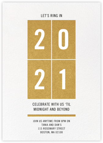 Let's Ring It In - Crate & Barrel - New Year's Eve Invitations