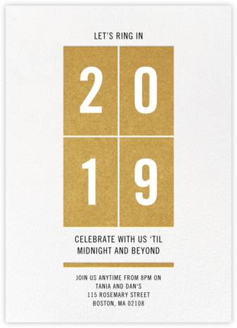 Let's Ring It In - Crate & Barrel - Invitations