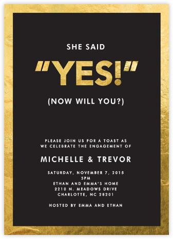 Yes! - Crate & Barrel - Engagement party invitations