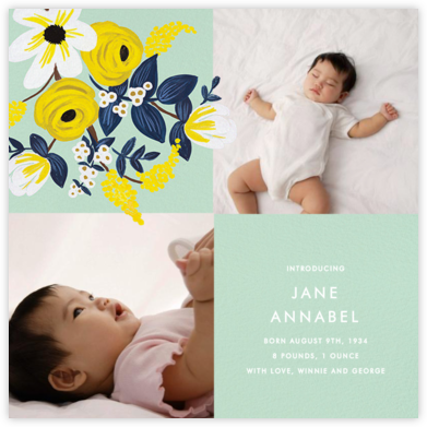Marigold Mosaic - Rifle Paper Co. - Birth Announcements