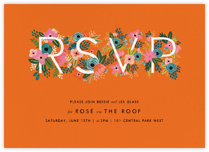 Monogrammed Reply - Orange - Rifle Paper Co. - Rifle Paper Co. Invitations