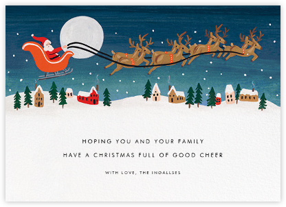 Santa by Moonlight - Rifle Paper Co. - Christmas Cards