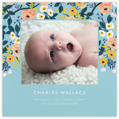 September Violets (Photo) - Rifle Paper Co. - Birth Announcements