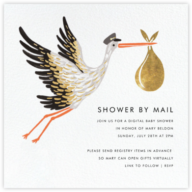 Stork's Bundle - Rifle Paper Co. - Online Baby Shower Invitations
