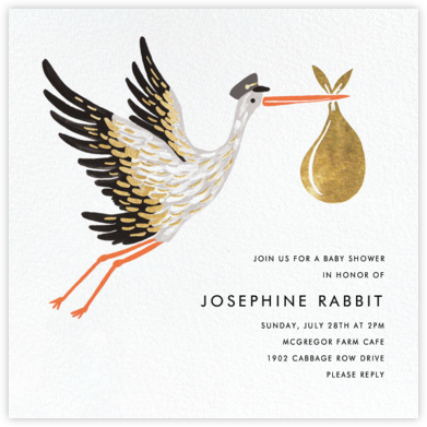 Stork's Bundle - Rifle Paper Co. - Rifle Paper Co. Invitations