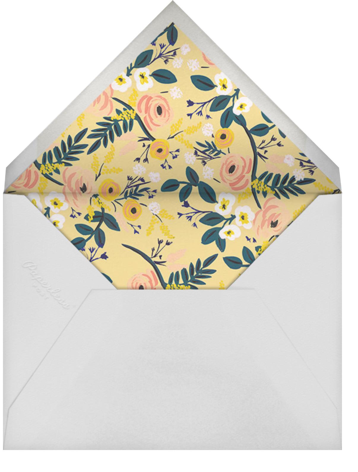 Stork's Bundle - Rifle Paper Co. - Baby shower - envelope back