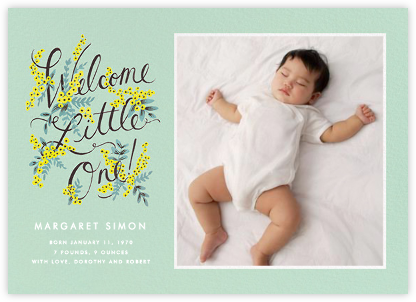 Welcome Little One (Photo) - Rifle Paper Co. - Birth Announcements