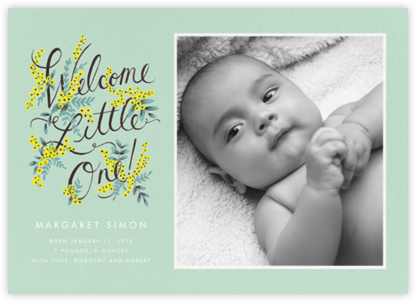 Welcome Little One (Photo) - Rifle Paper Co. -