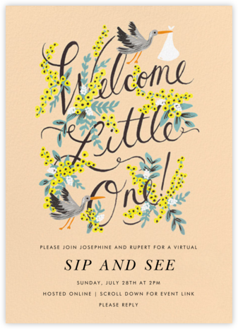 Welcome Little One - Rifle Paper Co. - Sip and see invitations